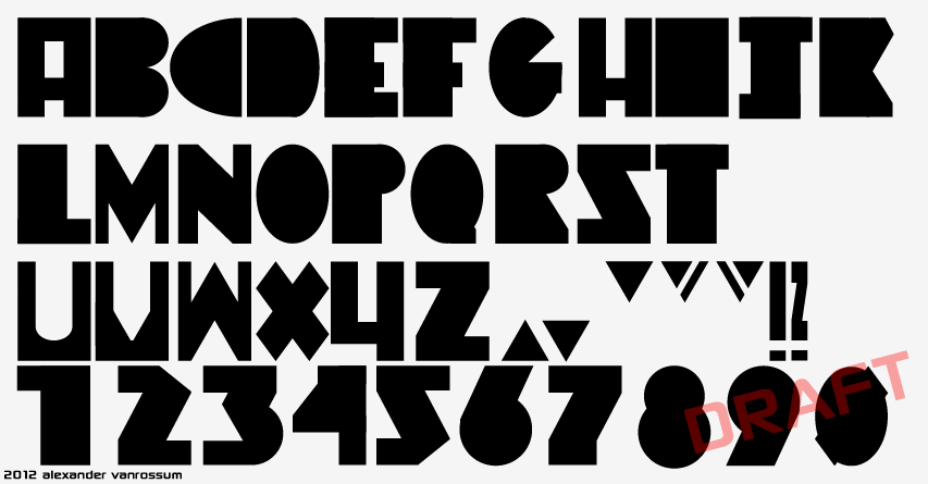 New Font Design:  Fatted Viro