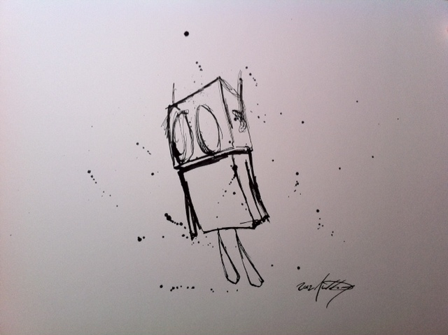Destructive Ink – Sad Robot