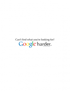 Google Harder - Poster Design